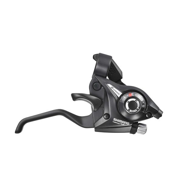 Shimano bremse og skiftegreb STI-greb par ST-EF51 7-speed sort, 2-finger | Gear levers