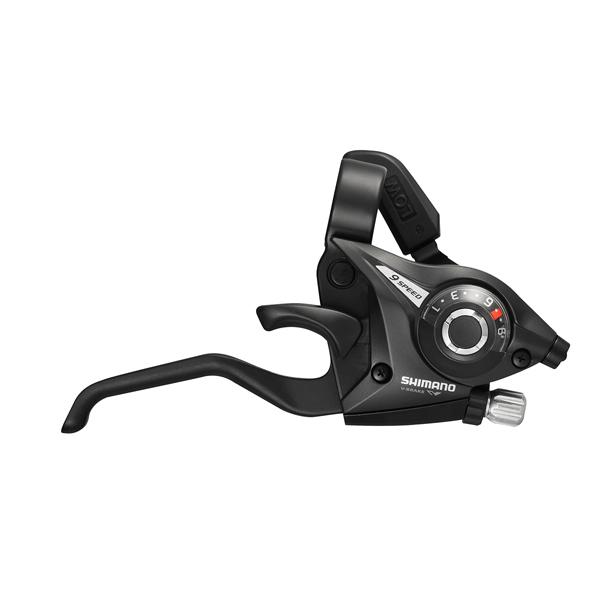 Shimano bremse og skiftegreb STI-greb par ST-EF51 9-speed sort, 2-finger | Gear levers