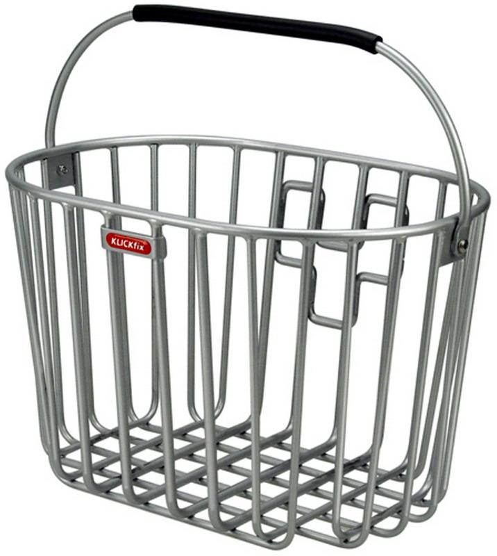 KLICKFIX kurv Alumino Sølv Alu Front 40x25x26cm 16L Max 7kg 0393KSI (10) | Bike baskets