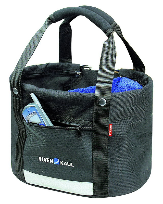 KLICKFIX taske Shopper Comfort Sort Mini 32x24x23cm 800g 13L m/regnslag max 7kg 0300CSM | Bike baskets