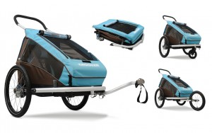 Croozer Kids bike trailer Croozer (E) 2014 Kd for 1Plus, blue/brown,spring-borne | City-cykler