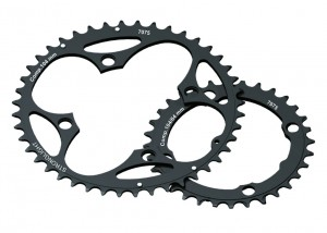 Stronglight klinge MTB 104/64 2x10 outside 41 T., black,10-gear Shimano | chainrings_component