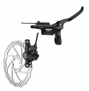 Tektro skivebremse sæt Auriga E-Comp Set, Ø 160 mm, black, 750/1400 mm | Brake calipers