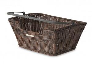Basil cykelkurv til bagagebærere Capri Flex 40x31x18cm, brown, Rattan, finely woven | Bike baskets