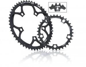 Miche klinge Super 11 BCD 110 inside 38 d. black 11 v. Campagnolo | chainrings_component