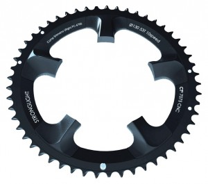 Stronglight chain ring Stronglight Ultegra 110mm outside 53 teeth, black, ct², 10-gear | chainrings_component