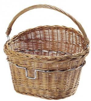 Weiden Cykelkurv for KLICKFIX-System brown. w. AdapterBracket | Bike baskets