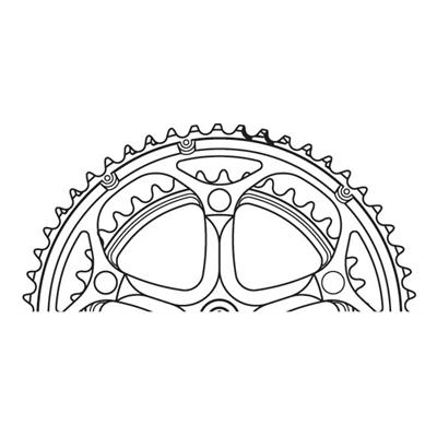 Klinge stor compact Shimano R600 110Ø 50T 10 sp | chainrings_component