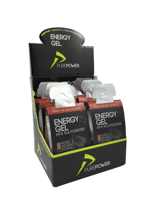 Purepower energy gel med cola smag 6 X 3 X 40g | Energy gels