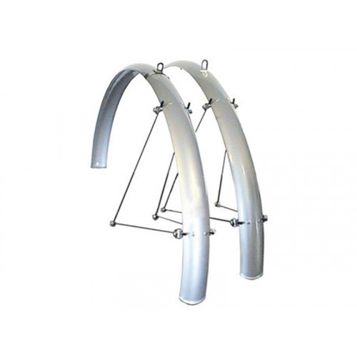 SPENCER Mudguard Omega SilverRoad, front and rear, 700C, 44 mm
