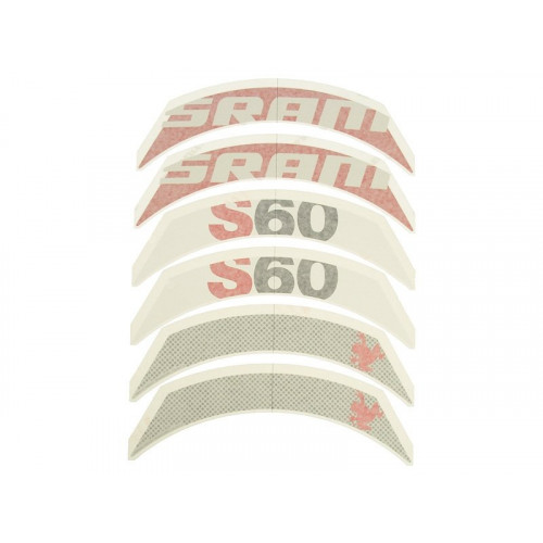 SRAM Decal set S60 RedComplete for one hjul