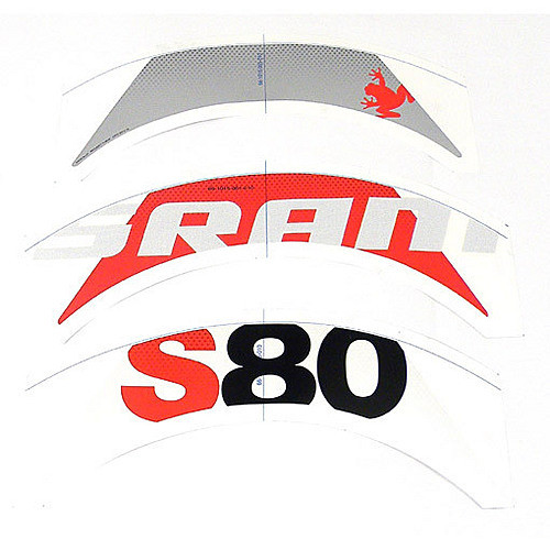 SRAM Decal set S80 RedComplete for one hjul