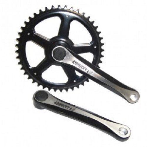 Chainset, Alu 44 sprockets,170 mm,black