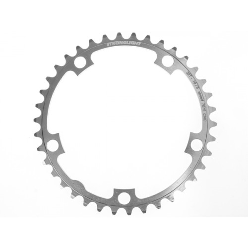 Stronglight klinge Road 38T Ø130 mm 9/10 speed Zicral2nd pos., Shimano, Silver, Alu 7075 T6