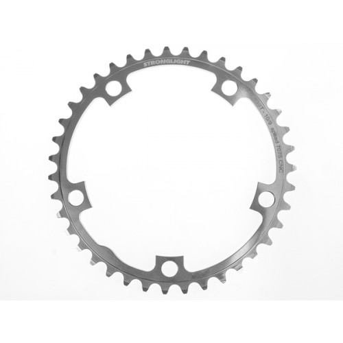 Stronglight klinge Road 39T Ø130 mm 9/10 speed Zicral2nd pos., Shimano, Silver, Alu 7075 T6