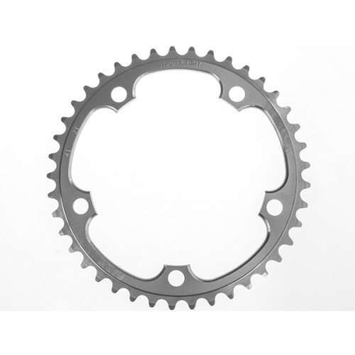 Stronglight klinge Road 41T Ø130 mm 9/10 speed Zicral2nd pos., Shimano, Silver, Alu 7075 T6