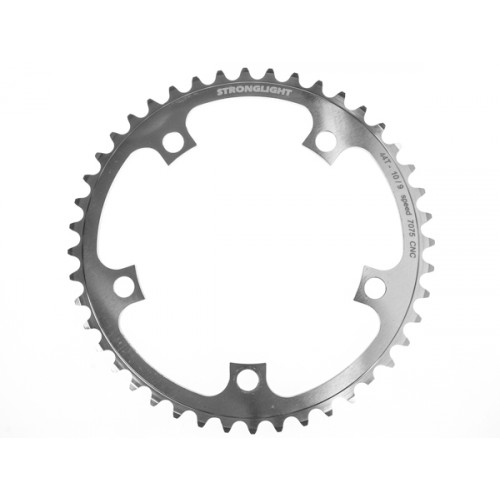 Stronglight klinge Road 44T Ø130 mm 9/10 speed Zicral2nd pos., Shimano, Silver, Alu 7075 T6