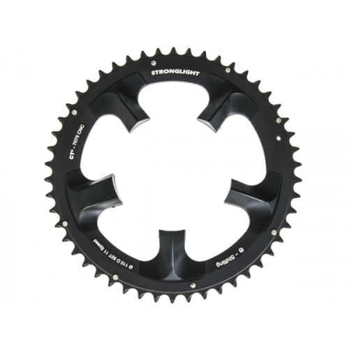 Stronglight klinge Road 50T Ø110 mm 11 speed CT2 Zicral1st pos., Shimano, Dura-ace FC-7950/DI2, Black, CT2 - Alu 7075 T6