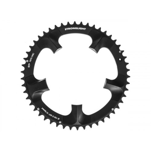 Stronglight klinge Road 50T Ø130 mm 10 speed CT2 Zicral1st pos., Shimano, Dura-ace FC-7900, Black, CT2 - Alu 7075 T6