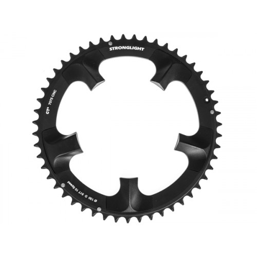 Stronglight klinge Road 51T Ø130 mm 10 speed CT2 Zicral1st pos., Shimano, Dura-ace FC-7900, Black, CT2 - Alu 7075 T6