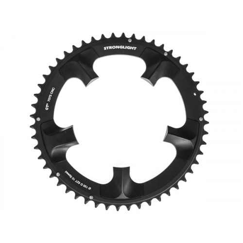 Stronglight klinge Road 52T Ø130 mm 10 speed CT2 Zicral1st pos., Shimano, Dura-ace FC-7900, Black, CT2 - Alu 7075 T6