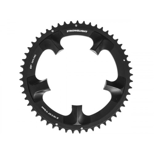 Stronglight klinge Road 53T Ø130 mm 10 speed CT2 Zicral1st pos., Shimano, Dura-ace FC-7900, Black, CT2 - Alu 7075 T6
