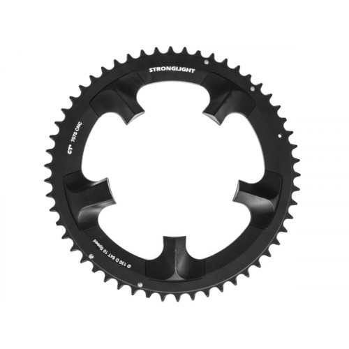 Stronglight klinge Road 54T Ø130 mm 10 speed CT2 Zicral1st pos., Shimano, Dura-ace FC-7900, Black, CT2 - Alu 7075 T6