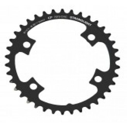Stronglight klinge Road 38T Ø110 mm 11 speed CT2 Zicral2nd pos., Shimano, Dura-ace FC-9000/DI2, Black, CT2 - Alu 7075 T6
