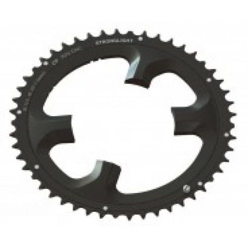 Stronglight klinge Road 53T Ø110 mm 11 speed CT2 Zicral1st pos., Shimano, Dura-ace FC-9000/DI2, Black, CT2 - Alu 7075 T6