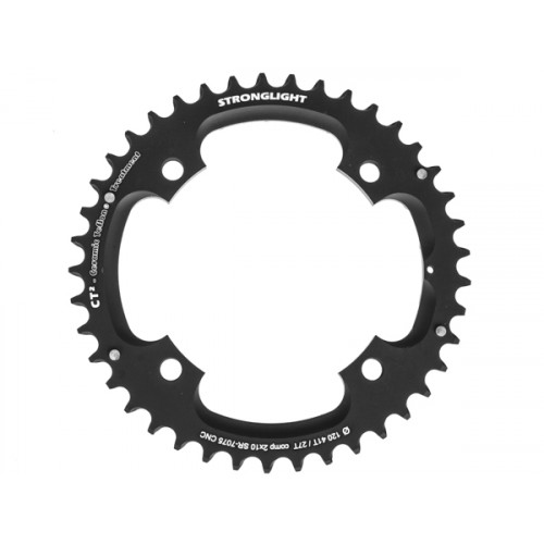Stronglight klinge MTB 41T Ø120 mm 10 speed CT2 Zicral1st pos., Threads in chainring, Black, CT2 - Alu 7075 T6