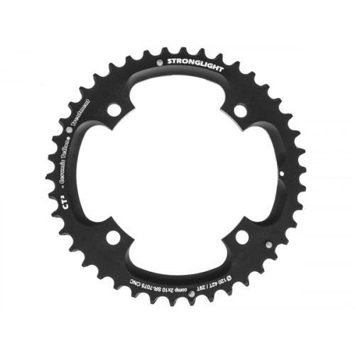 Stronglight klinge MTB 42T Ø120 mm 10 speed CT2 Zicral1st pos., Threads in chainring, Black, CT2 - Alu 7075 T6