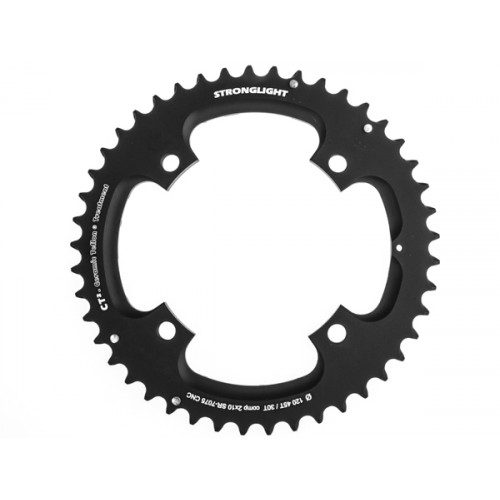 Stronglight klinge MTB 45T Ø120 mm 10 speed CT2 Zicral1st pos., Threads in chainring, Black, CT2 - Alu 7075 T6