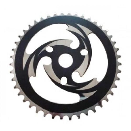 Diverse BMX-SteelChain Ring 44 Left with Chain-Guard Disk