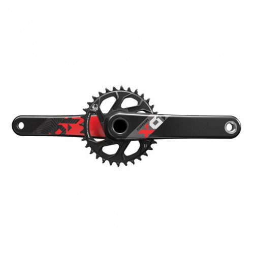 SRAM Crankset Eagle X01 GXP Boost 32T 175 mmX-sync, 1x12 speed, Direct mount, Black, Red graphics, Excl. bottom