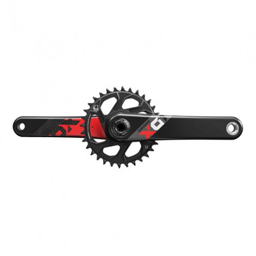 SRAM Crankset Eagle X01 BB30 Boost 32T 175 mmX-sync, 1x12 speed, Direct mount, Black, Red graphics, Excl. bottom