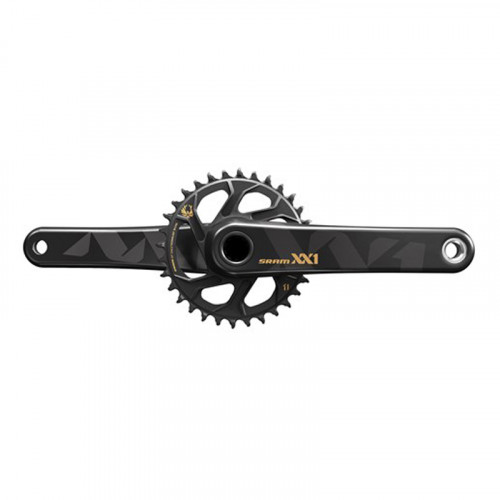 SRAM Crankset Eagle XX1 GXP Boost 32T 175 mmX-sync, 1x12 speed, Direct mount, Black, Gold graphics, Excl. bottom