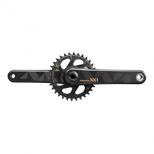SRAM Crankset Eagle XX1 BB30 Boost 32T 175 mmX-sync, 1x12 speed, Direct mount, Black, Gold graphics, Excl. bottom