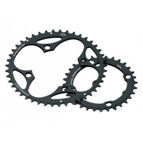 Stronglight Chain ring Stronglight MTB 104/64 2x10 outside 42 T., black,10-gear Shimano