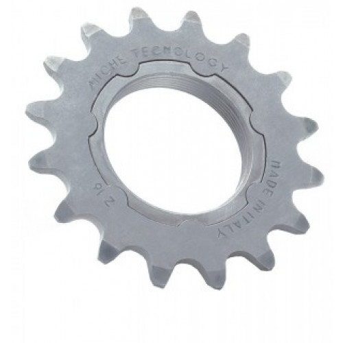 "Miche Single Speed sprocket Miche 1/8"",14 T. with  Carrier matt verchromt"