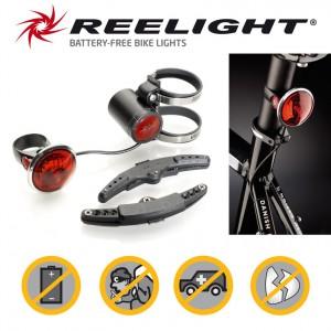 Reelight baglygte SL520 w.sidelight Power Back Up, black   Rear lights