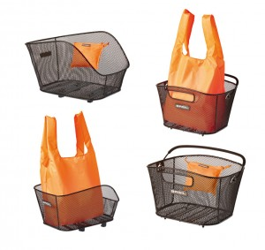 Basil shopping taske til cykelkurv Keep orange, fold., suitable for Icon/Bold | Bike baskets