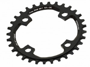 Stronglight Chain ring Stronglight MTB Sram 1x11 for X01 4-Arm 34Z w. threads blk LK104mm | chainrings_component