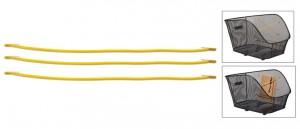 Basil gummielastikker til cykelkurv Keep in Place yellow, suitable for Icon/Bold | Bike baskets