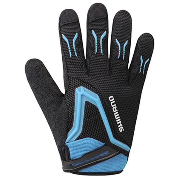 Shimano cykelhandsker Freeride lange sort/lyseblå XL | Gloves