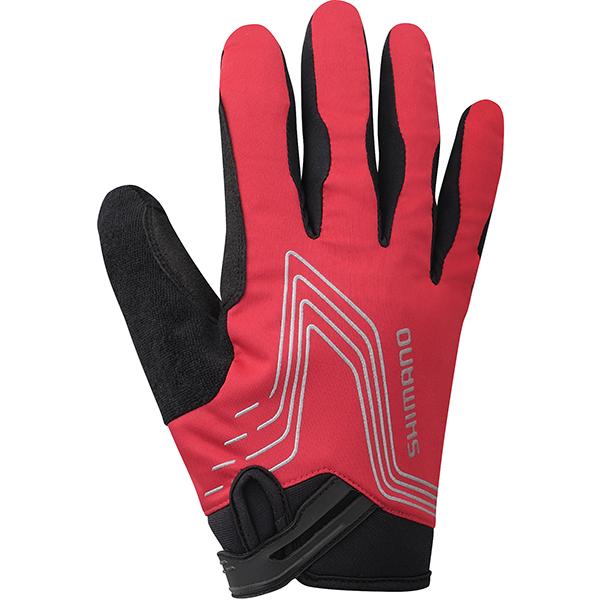 Shimano cykelhandsker Thin Windbreak rød L | Gloves