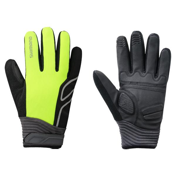 Shimano cykelhandsker High-Visible neon gul XL | Gloves