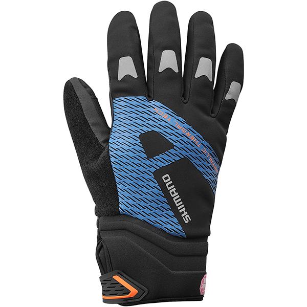 Shimano cykelhandsker Windstopper(R) refl. blå XXL | Gloves