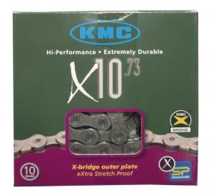 KMC kæde KMC X-10-73 (10 stk pakning) grey/grey 116 links 5,9 mm 10 s. | Chains