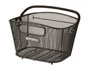 Basil cykelkurv til bagagebærere Bold S blk, close meshed | Bike baskets
