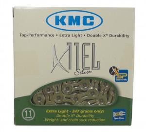 "KMC kæde KMC X-11-EL-silv. reinforced 1/2"" x 11/128"", 114 links,5,5mm,11s | Chains"
